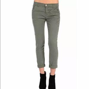 SIWY green cropped chino pants Sz 26 NWT